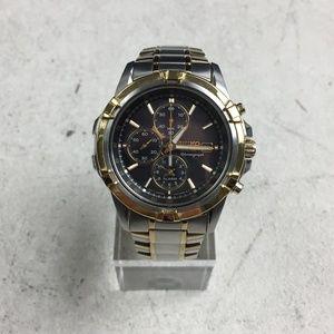 ⌚Seiko V172-0AJ0 Chronogr. Solar Men's Watch A239⌚